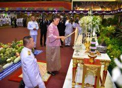สมเด็จพระเทพรัตนราชสุดาฯ สยามบรมราชกุมารี เสด็จพระราชดำเนินทรงสดับพระธรรมเทศนามหาเวสสันดรชาดก